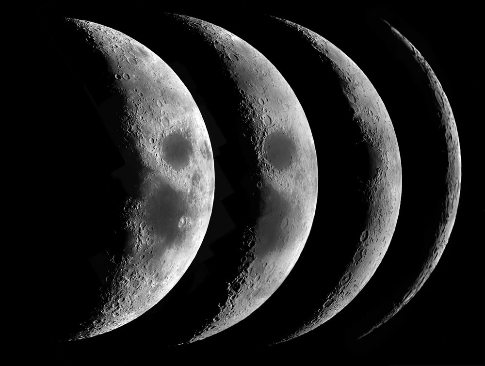 Waxing Lunar Cresecents