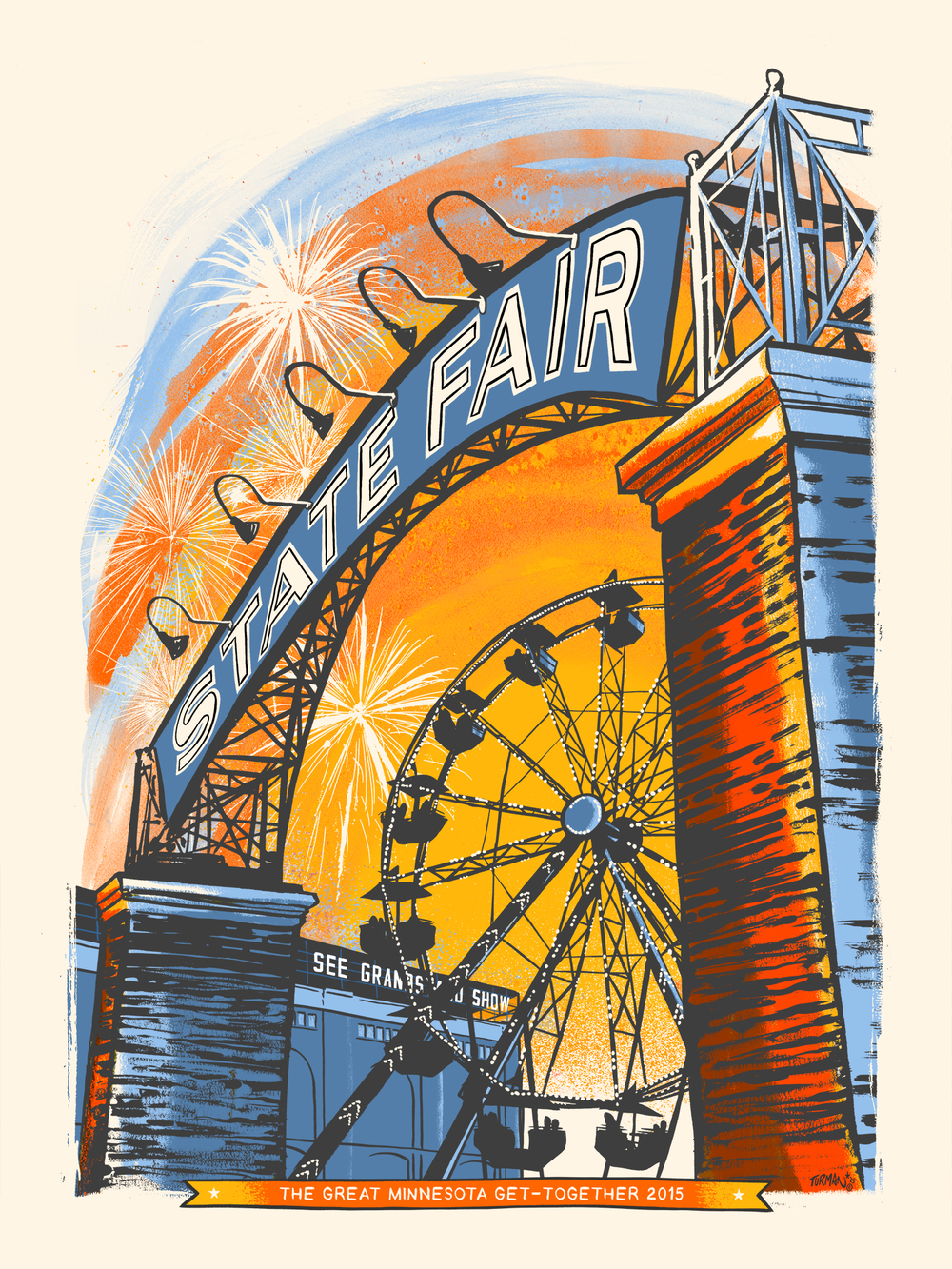 Minnesota State Fair Commemorative Art 2105 - Turman