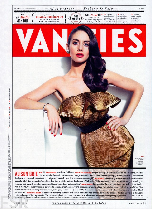 #AlisonBrie for #VanityFair #hairby #SaschaBreuer