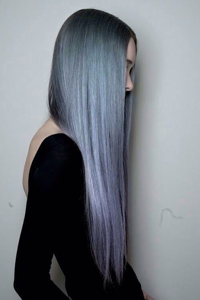 #greyhair #greytrend #grannyhair #2015haircolor #grey #2015trends