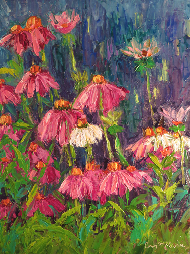 Coneflowers 8 X 10 Oil on  Linen © Ann McCann 2015