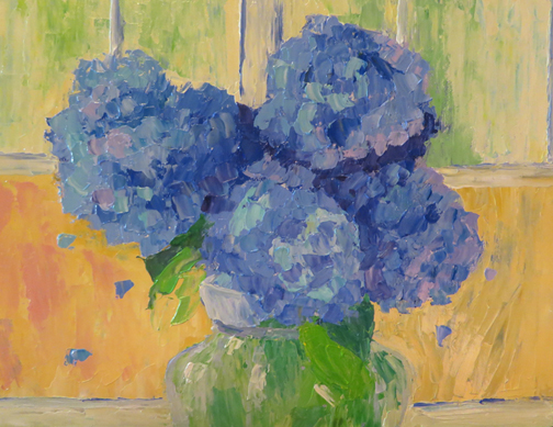 Hydrangeas by the Window by Ann McCann (c) 2015