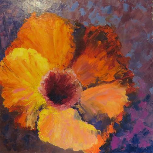 Giant Orange Hibiscus by Ann McCann (c)2015