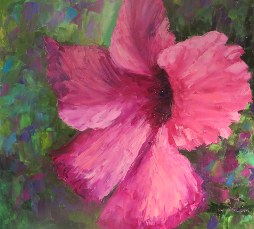 Giant Pink Hibiscus by Ann McCann (c) 2015