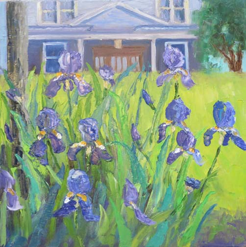 Irises in the Hood by Ann McCann (c)2016