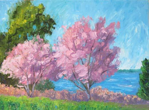 """""""Wild Cherries""""(c) Ann McCann 11 X 14 Oil on Canvas, 2017"""