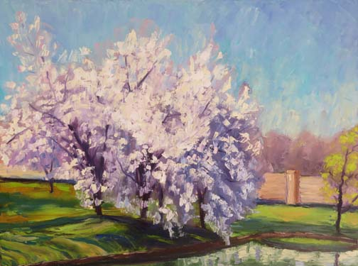 My Pear Trees by Ann McCann 18 X 24 oil (c)2017