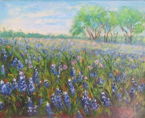 Field Of Bluebonnets Ennis Texas By Ann Mccann 16 X 20 Oil