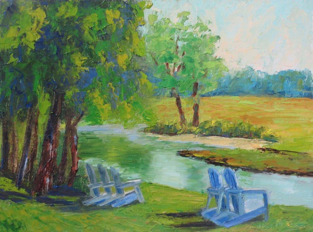 """""""My Favorite Chair"""" 9 X 12 Oil (c)Ann McCann 2017"""