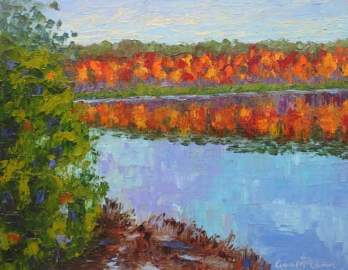 Fall at Echo Lake 9 X 12 Oil (c) Ann McCann 2018