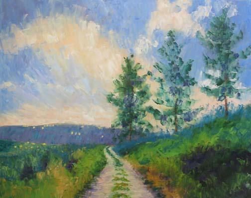 """""""Mountain Path"""" 16 X 20 Oil (c)Ann McCann 2018"""