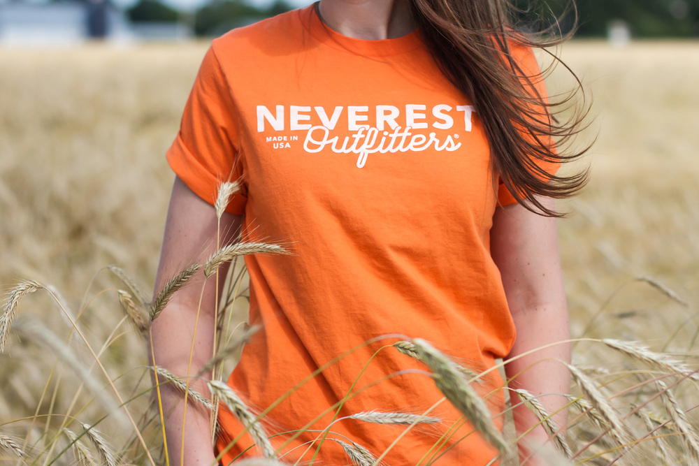Orange Neverest Outfitters t-shirt