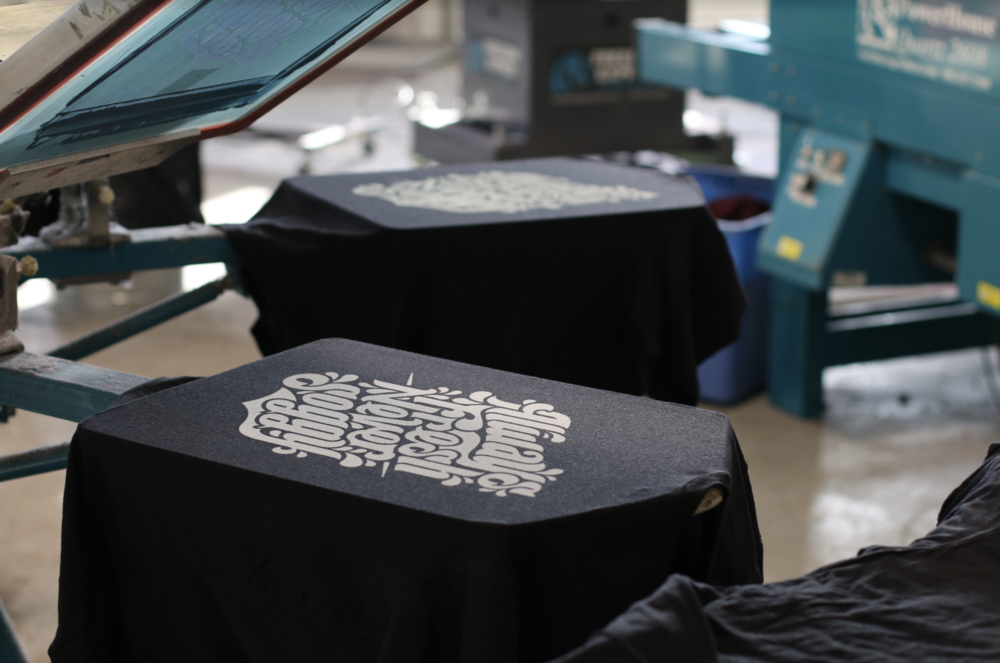 Screen Printing - The classic take on garment decoration. Developed thousands of years ago and still the most effective and efficient way to bring creations to life. We offer an array of styles that are suitable for any graphic or aesthetic you are trying to achieve. We also offer an array of inks that enable us to get exactly what you looking for, with the right color. Call in to chat about any of our screen printing capabilities.