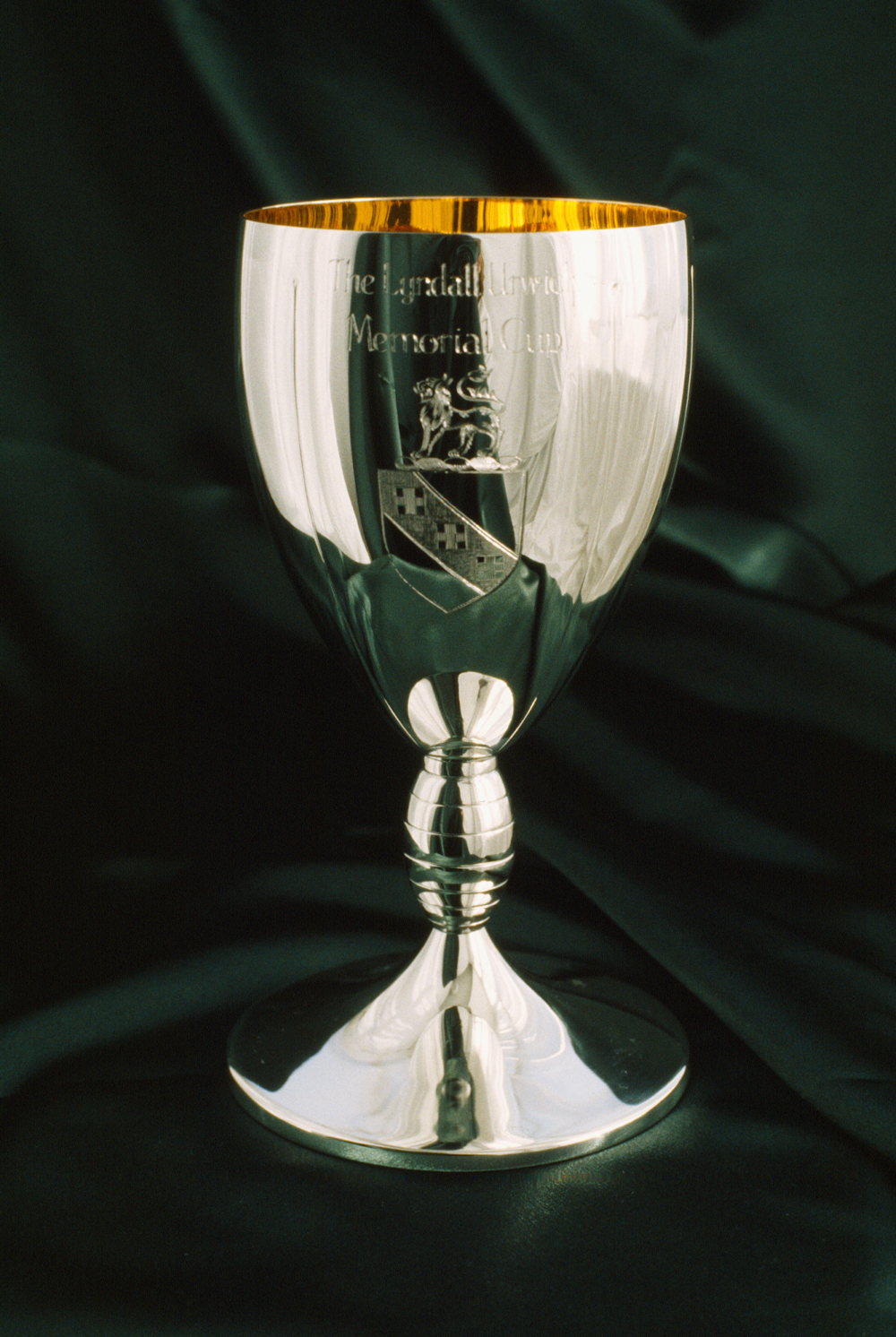 Lyndall Urwick Memorial Cup: With engraving and chased detail