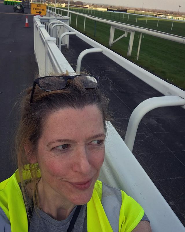 I've been a bit AWOL of the last few months ... been focusing on a few different projects, which culminated here at Aintree... this time last week after delivering the Randox Health Grand National Trophy and 3 replicas. Just a building site - hence the high viz! 🤓. #randox #randoxhealthgrandnational #aintreeraces #aintreeracecourse #contemporarysilversmithing #attheraces🏇
