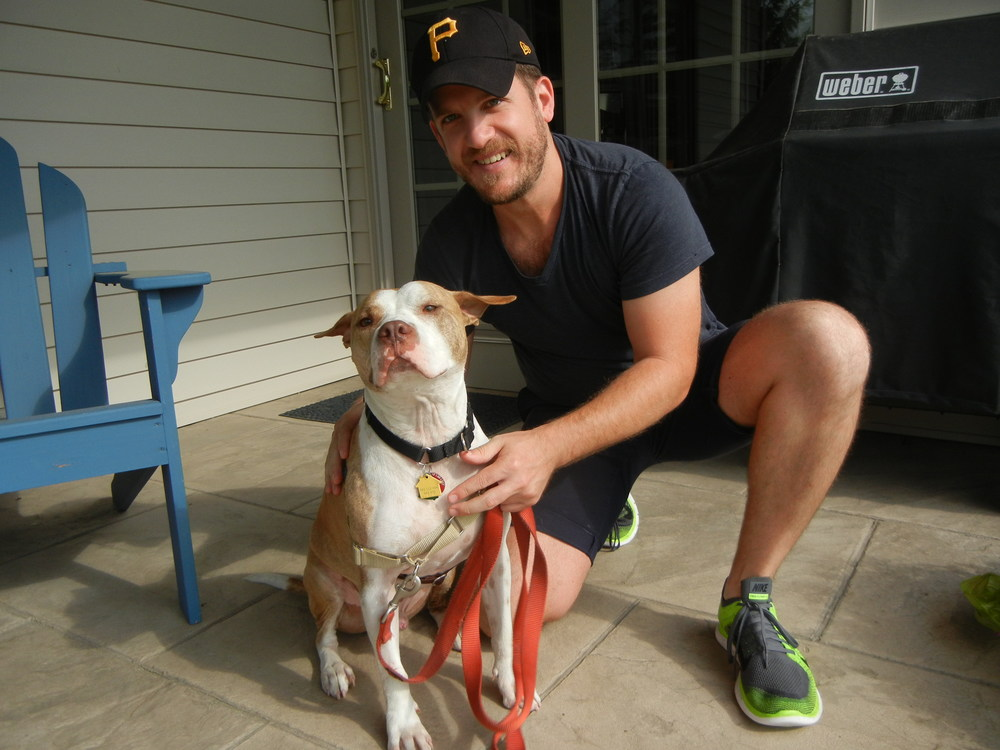 Zeppelin came to us as a young puppy, but after 2 years in the shelter he found his human counterpart. He enjoys going on long runs with his dad and hanging out around various establishments in Brooklyn.