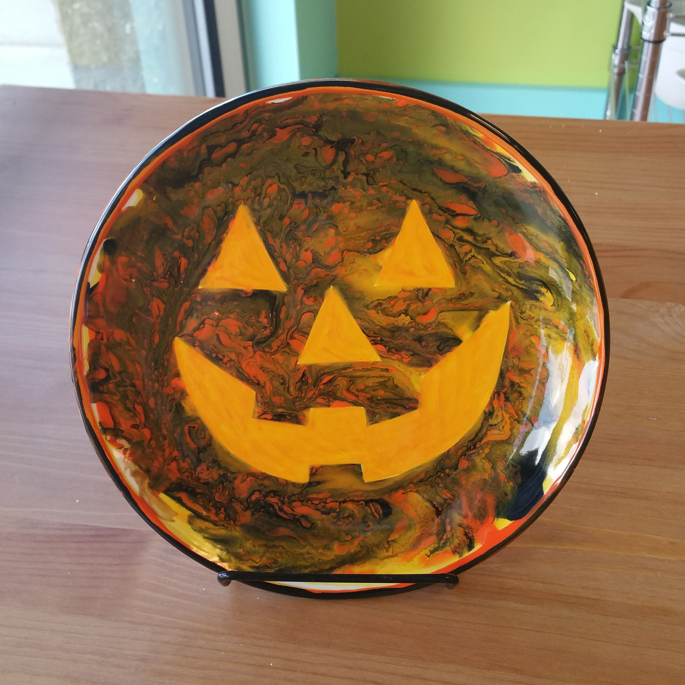 Jack-O-Lantern Plate