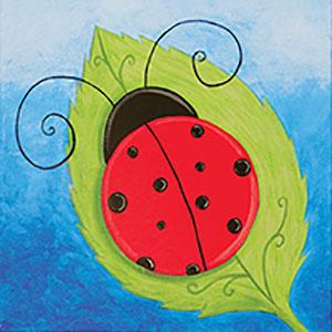 Ladybug Canvas Painting