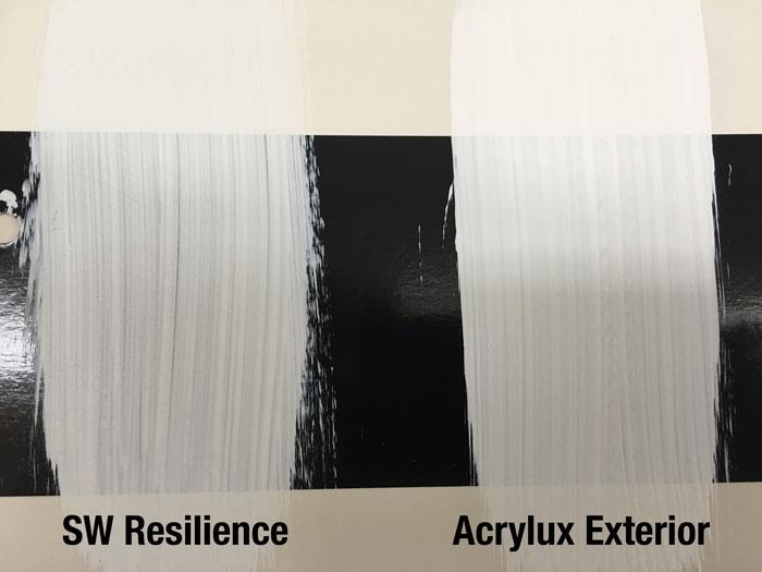 SW Resilience vs Acrylux Exterior