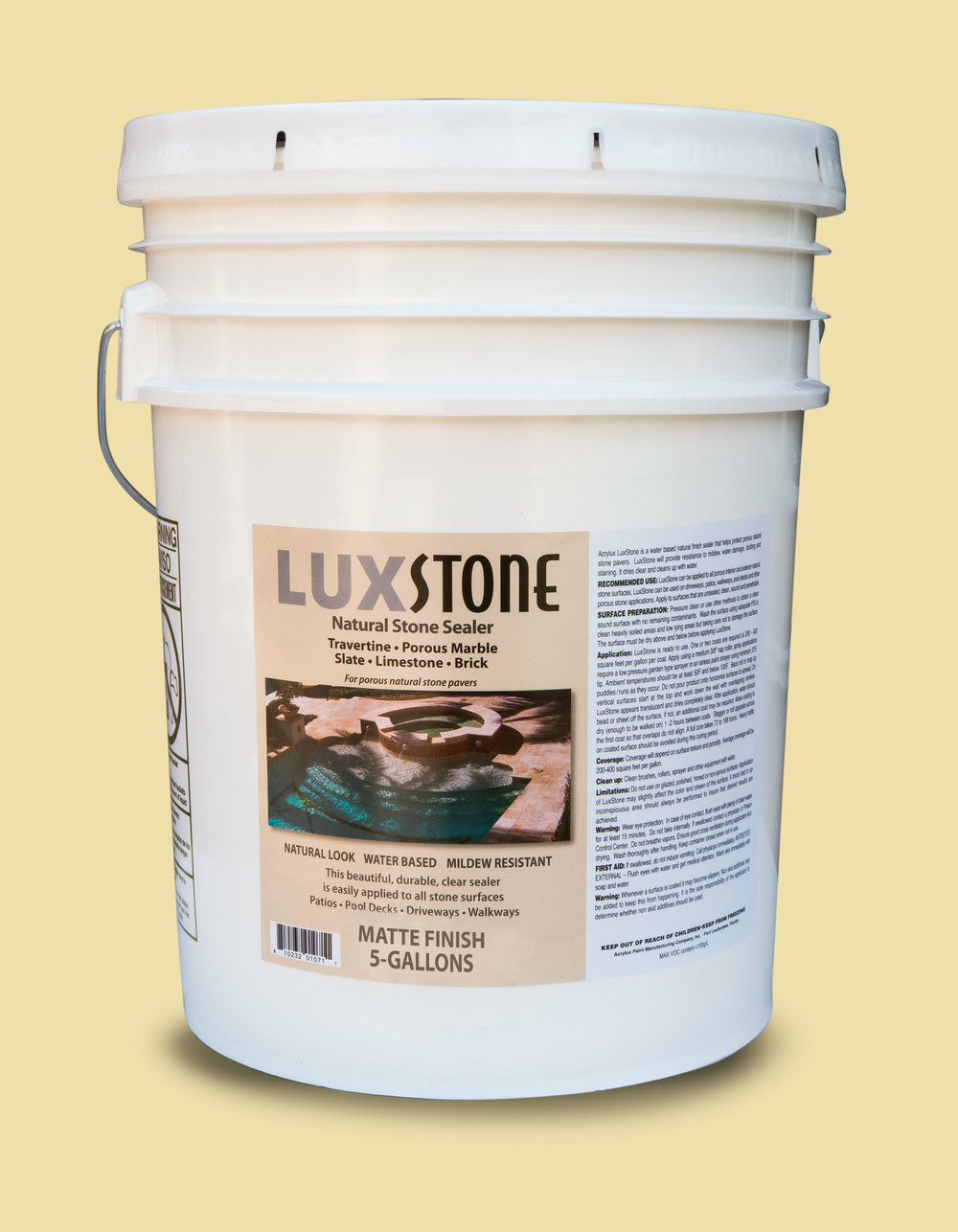 Luxstone Is A Matte Finish Water Based Clear Sealer For Porous Natural Stone  Pavers. Use On Travertine, Porous Marble, Slate, Limestone, Brick And  Concrete.