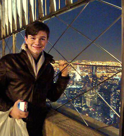 Mr. Colfer on his first visit to New York.