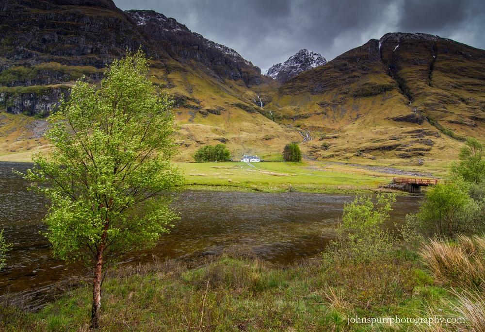 Spring arrives in the Scottish Highlands