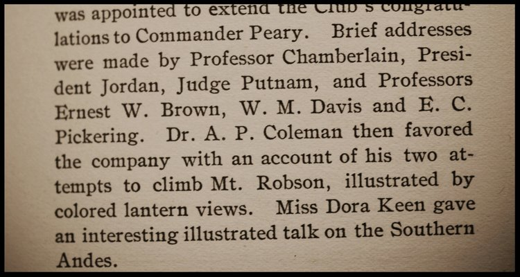 Excerpt from the  1911 By-Laws & Register Book: Notes from the Eighth Annual Meeting held in Boston, 1909