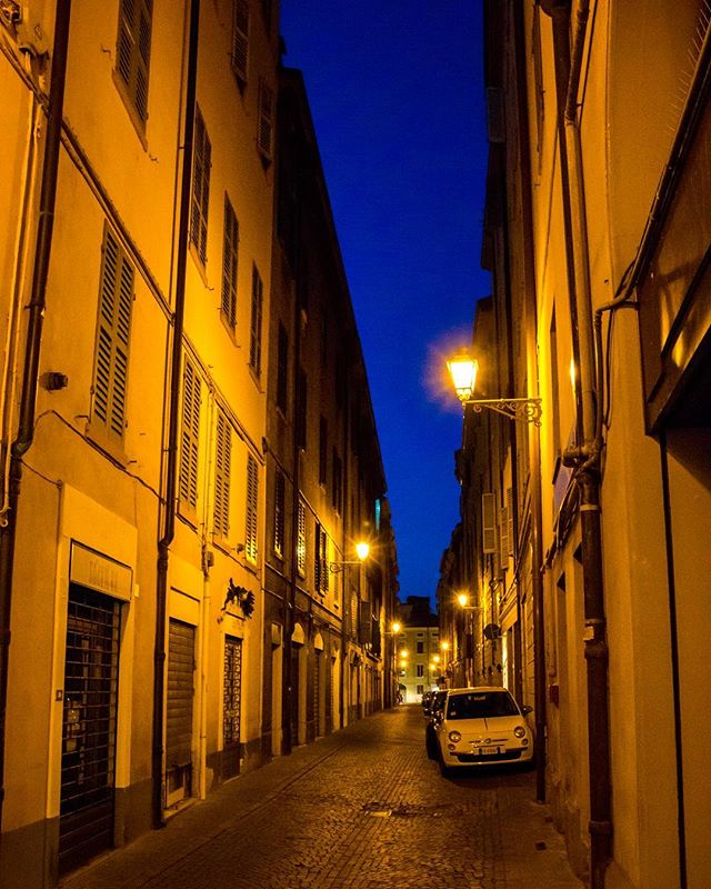 Missing the beautiful, ancient, and quiet streets of Modena. Congrats to @massimobottura and Osteria Francescana for being named the best restaurant in the world yet again.  #modena #emiliaromagna #italia #italy #francescana #worlds50best #tbt #bluehour