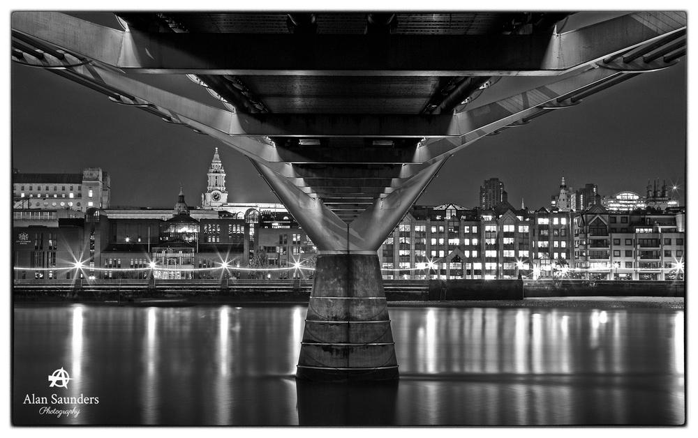Underneath Millennium Bridge