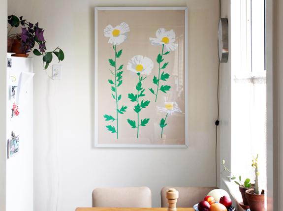 """Matilija Poppy Print , 40 x 26"""",   similar"""