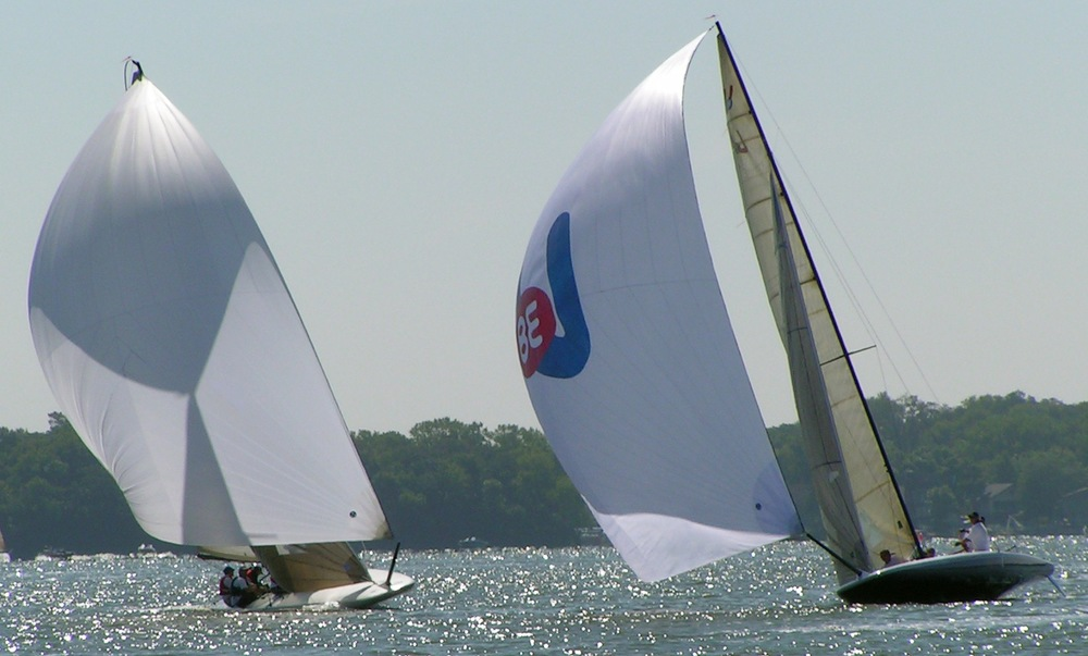 Victory and Innovation downwind, 1st race Clear Lake 2007.jpg