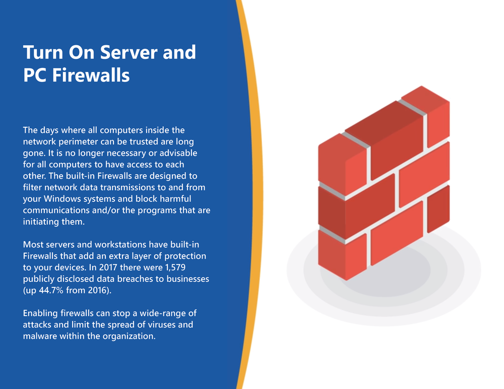 Turn On Server and PC Firewalls