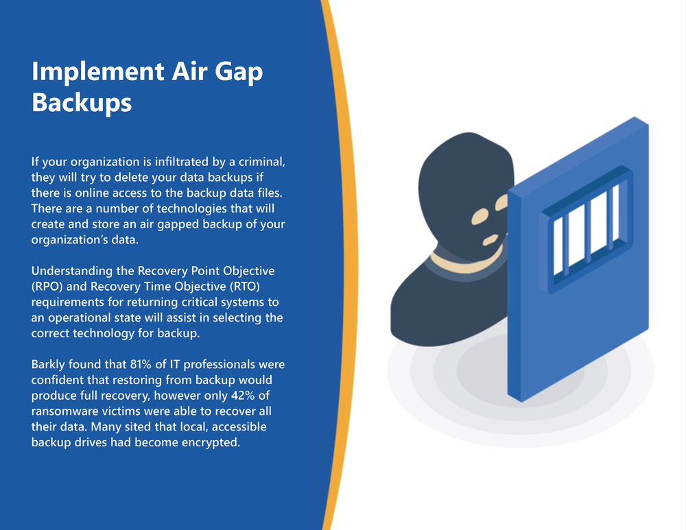 Implement Air Gap Backups