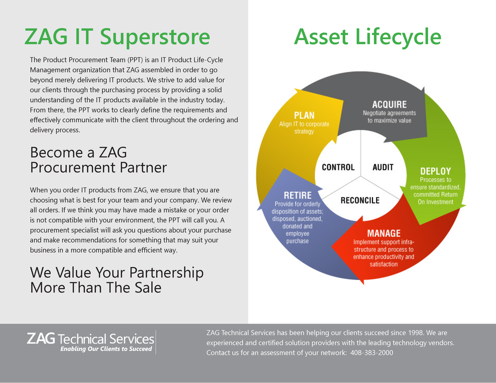 ZAG IT Superstore and product procurement