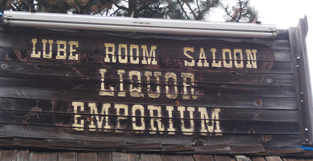 Lube Room Saloon Top Sign