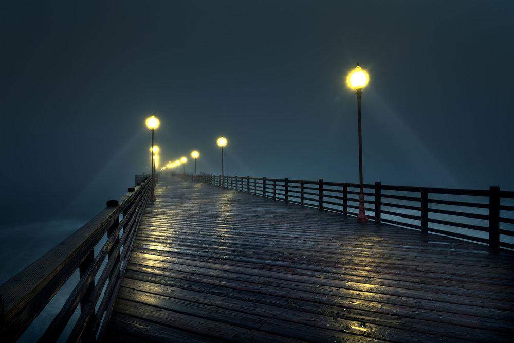Oceanside Pier During Fog I