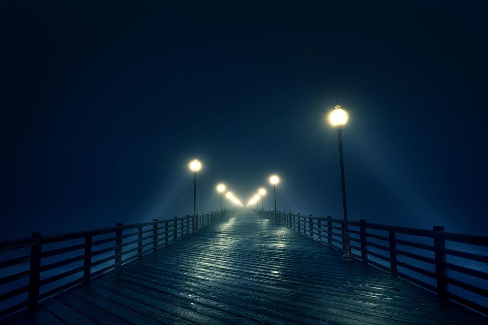 Oceanside Pier During Fog II