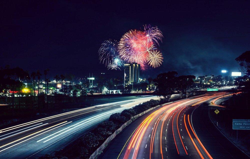Fourth of July on The San Diego Freeway