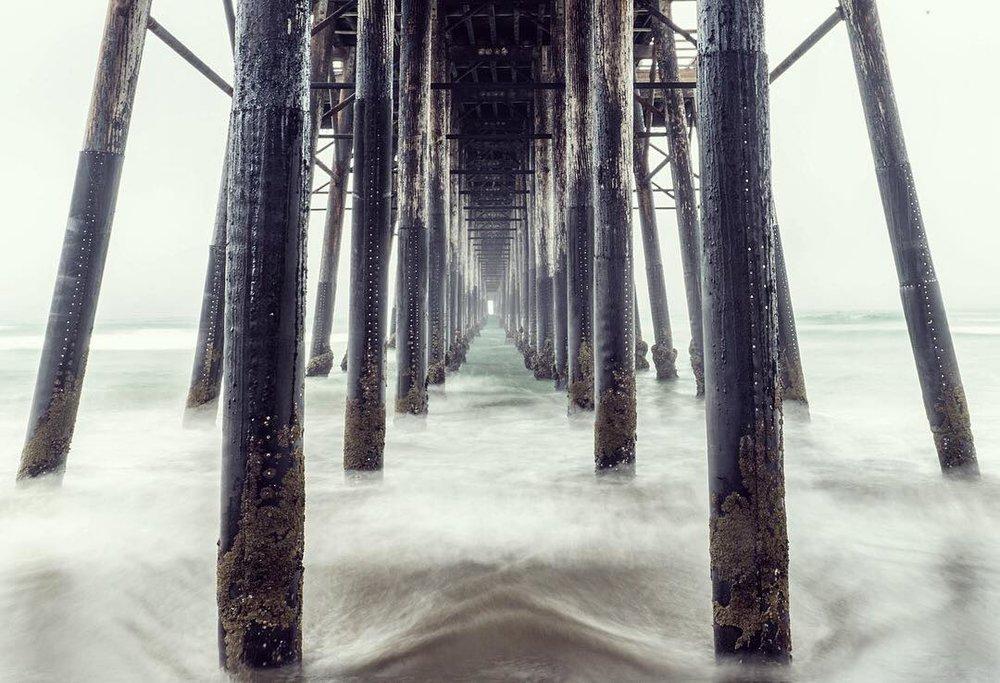 Oceanside Pier in Day Fog