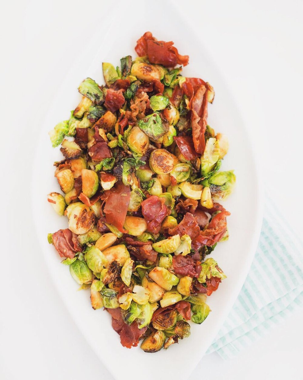 Roasted Brussels Sprouts with Prosciutto