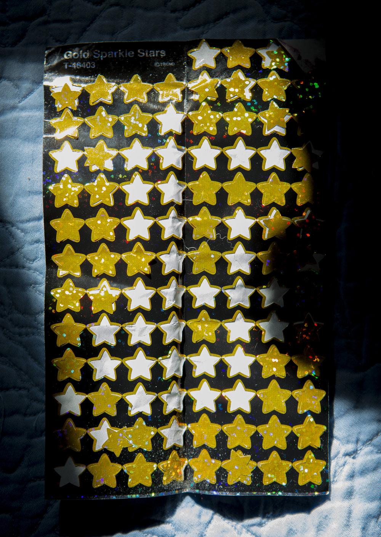 Gold Sparkle Stars