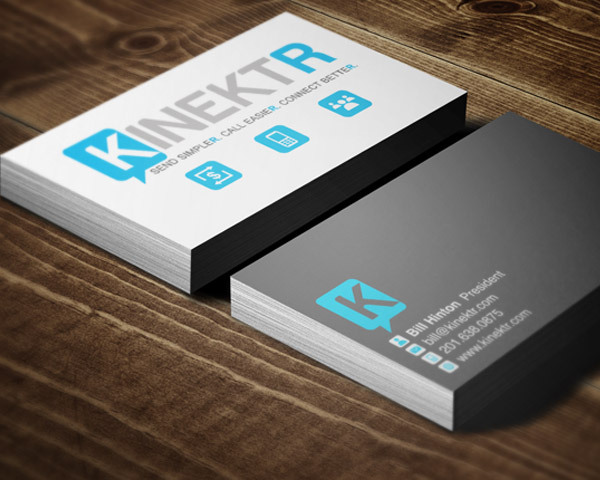 Kinektr branding erica the designer icons logo and business card designs for kinektr a money transfer app reheart Gallery