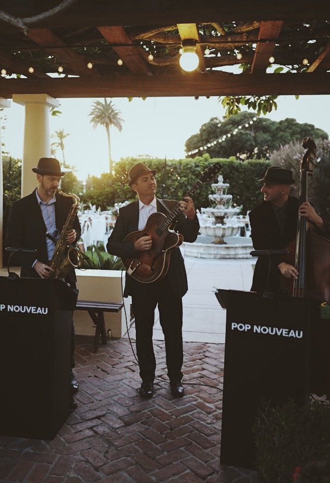 PN Trio performing for a wedding at The La Jolla Women's Club