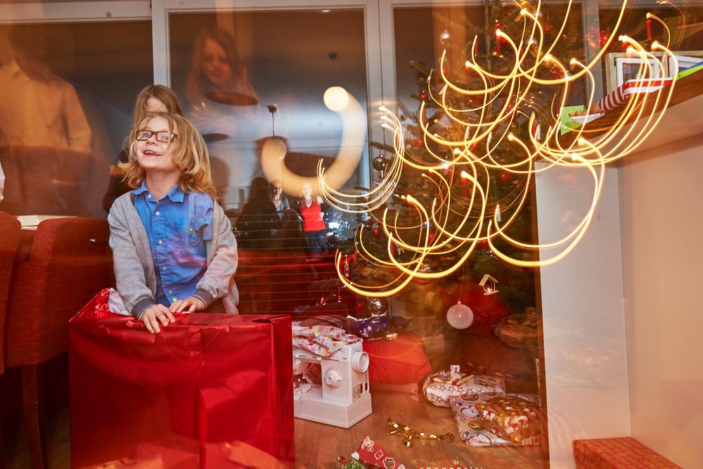 Kinder an Weihnachten
