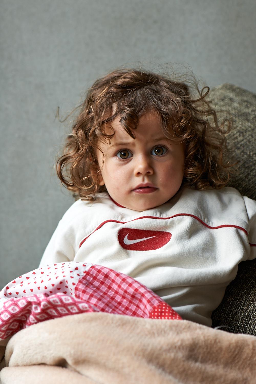 Kinder Portrait daheim