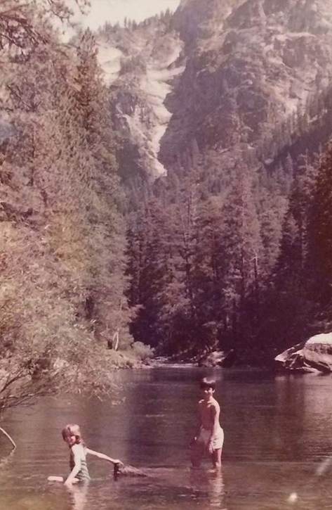 At age 11 with my brother at Yosemite National Park.