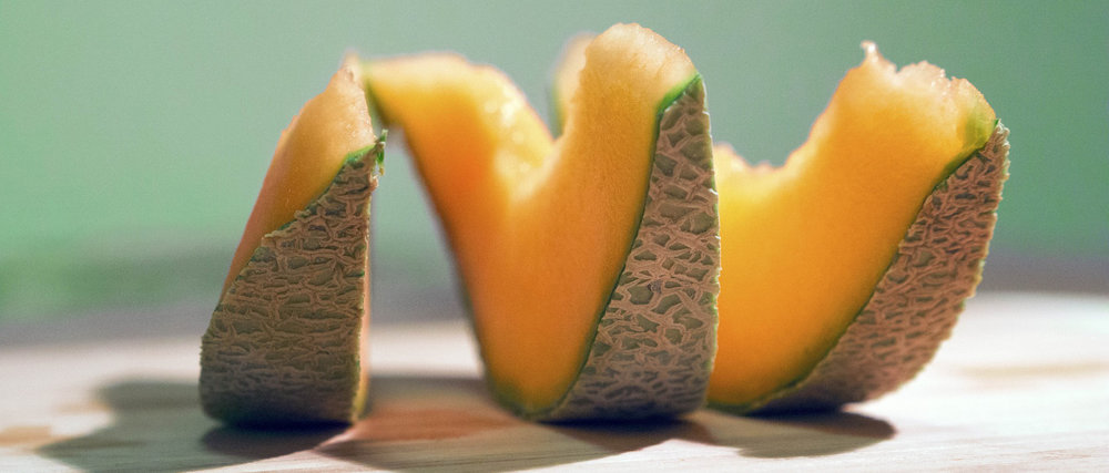 Sweet and fragrant cantaloupe melon is a sweet sign of summer.