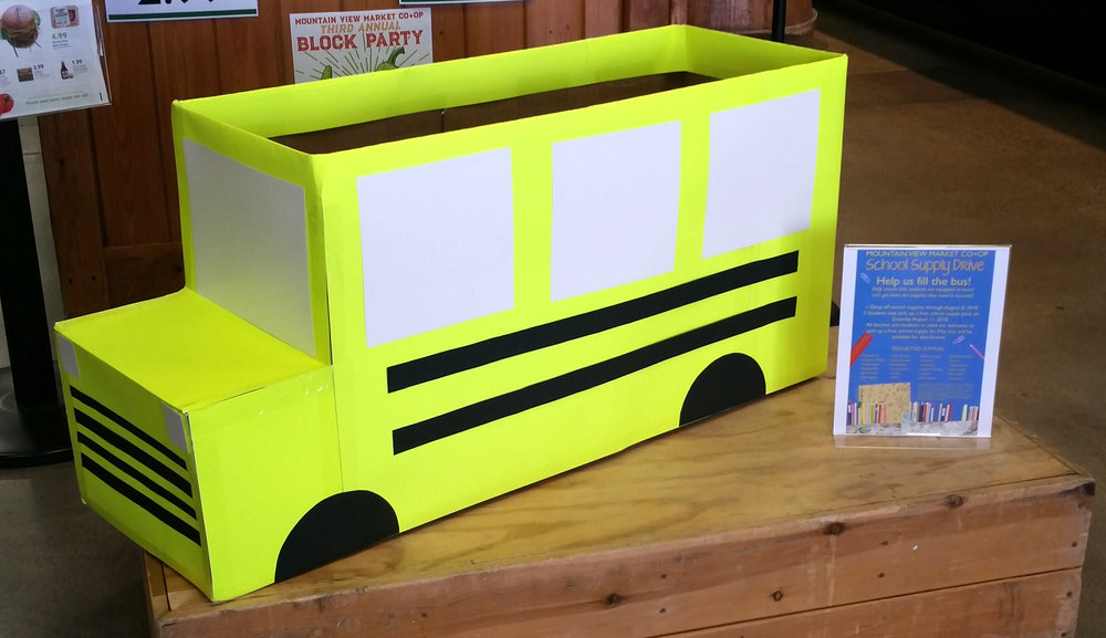 Let's fill this little bus with school supplies for kids in need!