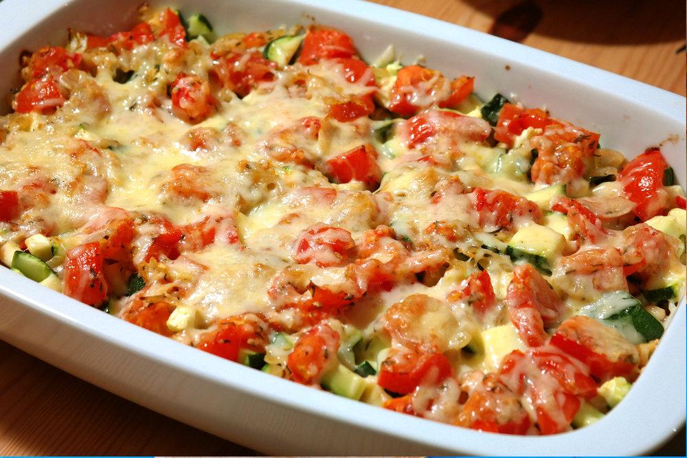 garden vegetable bake