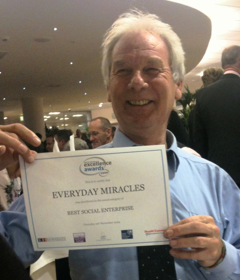 Chris Harding, MD & founder recognised at a recent award ceremony